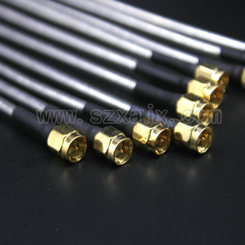 JX 10PCS SMA male to SMA male RG402 Coaxial Cable Connector Semi-rigid RG-402 Coax Pigtail 15CM free shipping jx connector 50pcs 10 100cm cable sma male to sma male with nut bulkhead rf coax pigtail cable rg316 adapter free shipping