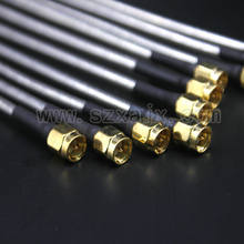 Jx 10 pces sma macho para sma macho rg402 conector de cabo coaxial semi-rígido RG-402 coaxial trança 15cm transporte rápido