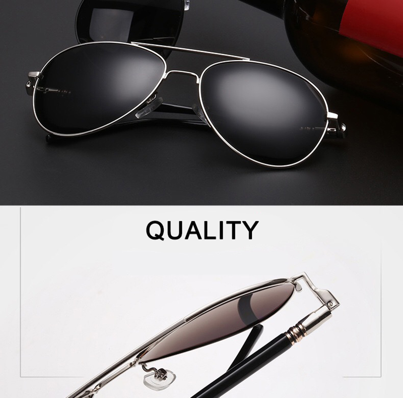Psacss Classic Pilot Photochromic Sunglasses Men Driving Clear Polarized Lens Sun Glasses Male Vintage Brand Sunglass Oculos UV