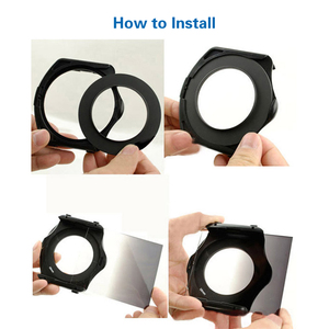 Image 3 - Zomei 100mm ND 100*100mm 100*150mm  Square filter holder &  67/72/77/82/86/95mm adapter ring for  4X4 LEE Cokin Z HITECH system