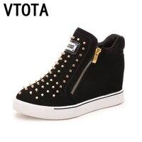 VTOTA Platform Shoes Woman Canvas Shoes Woman Increased Rivet Chaussures Femmes Fashion Tenis Feminino Casual Women