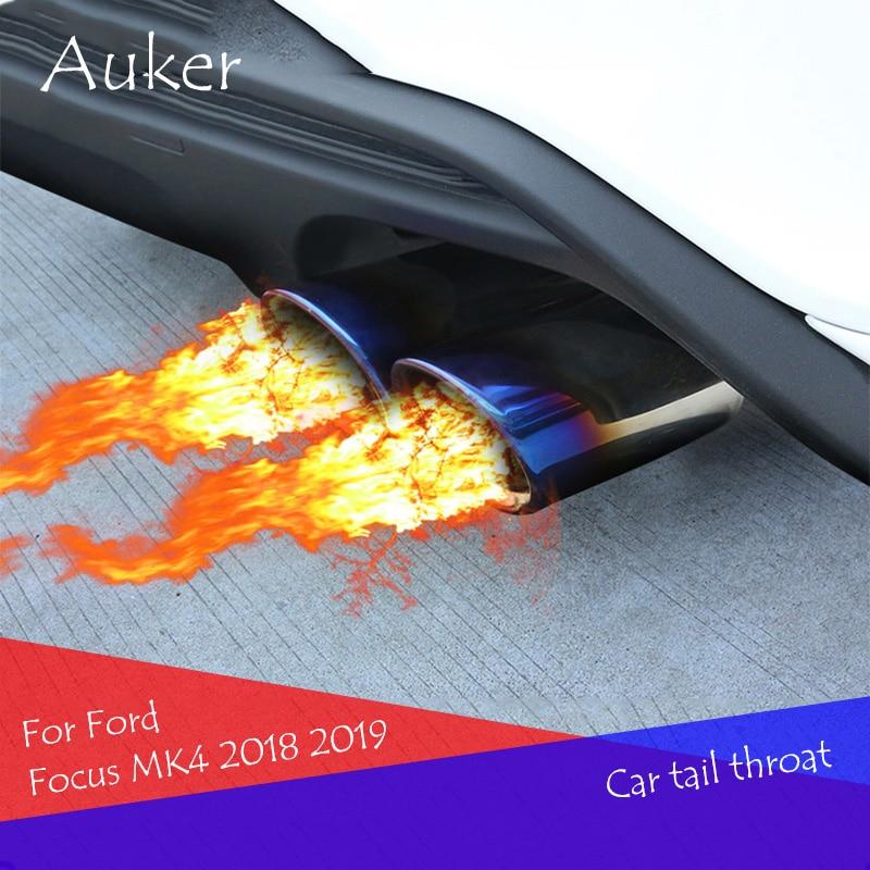 Автомобильный глушитель, труба для стайлинга автомобиля, бесплатная доставка, автомобильный глушитель выхлопной трубы, глушитель для Ford Focus Focus4 MK4 2019 2020, аксессуары|Хромирование| | АлиЭкспресс