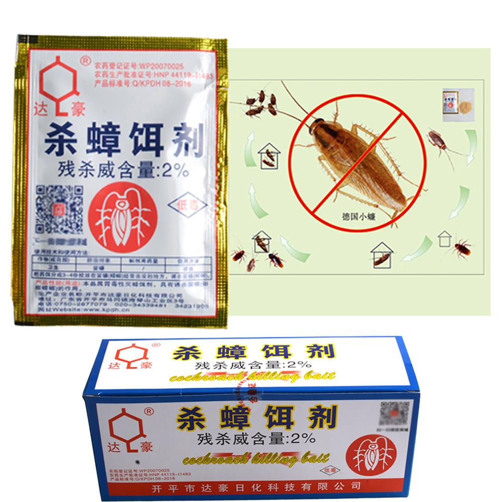 Hot 1/50Pcs/set Green Leaf Powder Cockroach Killing Bait Insecticide Repellent Cockroaches Killer Repeller Trap Pest Control