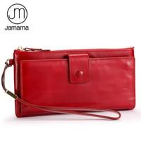 Jamarna Wallet Female Leather Long Clutch Women Wallet Female Card Holder Women Wallets Mobile Phone Pocket Zipper