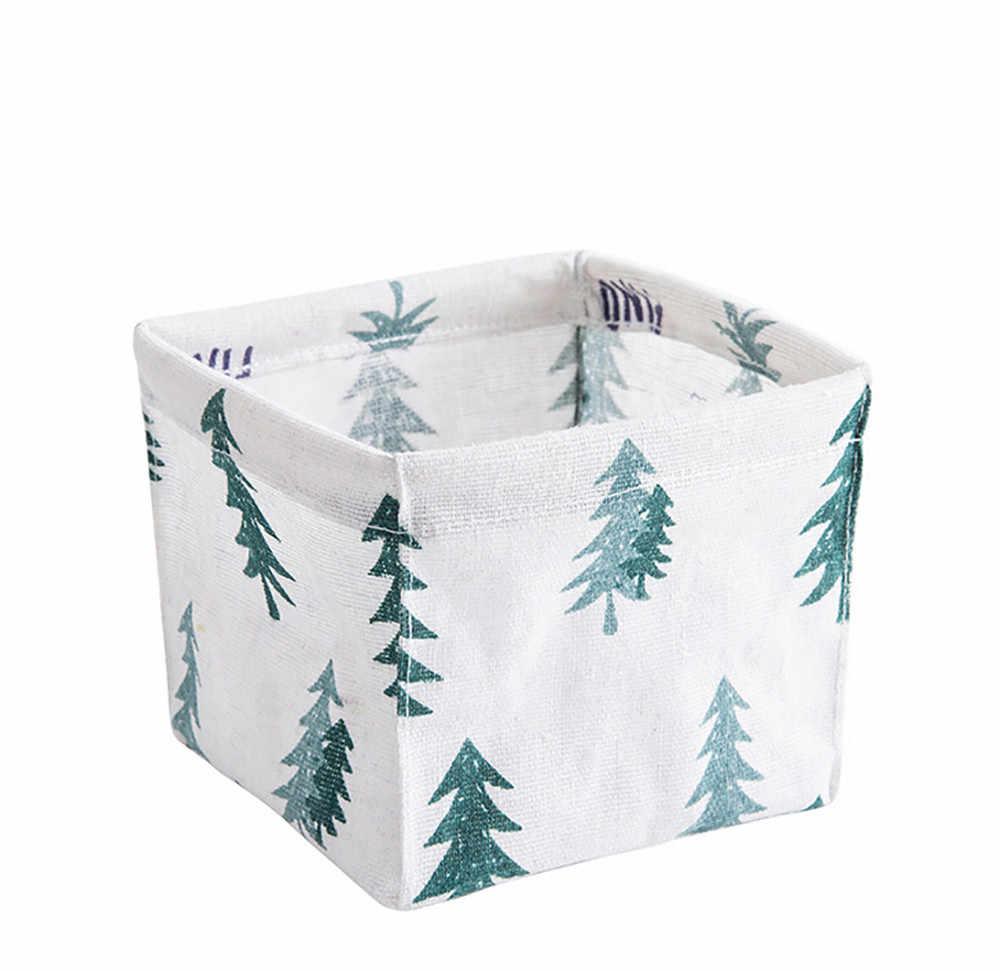 Cores caixa de armário de armazenamento organizador caixa container dobrável sacos de tecido material de casa cesta de armazenamento cesta de armazenamento de mesa Dropshipping