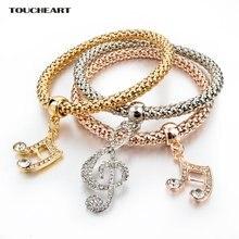 Toucheart золотые бриллиантовые браслеты для женщин парные ювелирные
