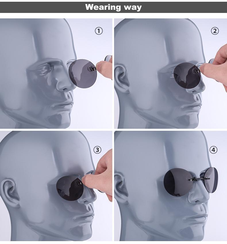 HTB1EYcVdgMPMeJjy1Xbq6AwxVXa5 - DIDI Small Round Clip On Nose Mini Sunglasses Men Brand Cool Steampunk Sun Glasses Women Vintage Metal Black Coating Gafas H689