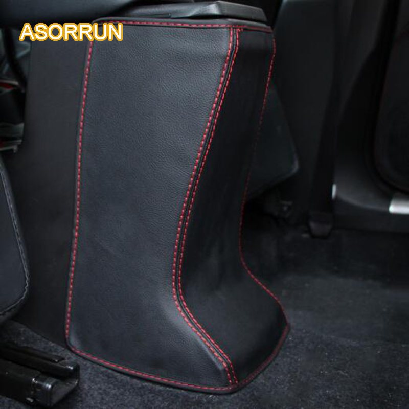 AOSRRUN The leather arm is cushioned in the back of the mat Covers Car accessories For Suzuki vitara 2016 2017 car styling aosrrun after the stainless steel backboard of the guard board the rear guard plate car accessories for acura cdx 2016 2017