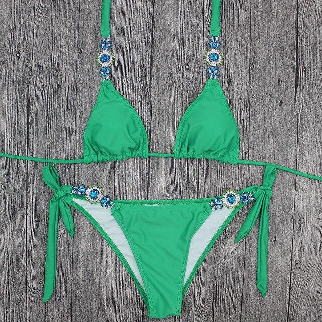 Hand Sewing Swimsuit Push Up Bikini 4