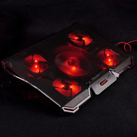 Universal Laptop Cooler 5 Fans 2 USB Ports Mute Light Notebook Cooling Pad For 15 6