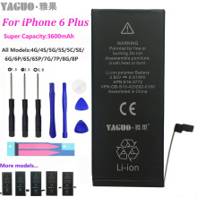 цена на 100% Original Mobile Phone Battery For Apple iPhone 6 Plus 6P iPhone6P High Real Capacity 3600mAh with Repair Tools Kit