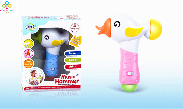 Big Venda Quente Do Brinquedo Do Bebê Do Divertimento Brinquedos Do Bebê Música Ligeira Brinquedo Martelo Brinquedo Educativo Fabricante do Ruído