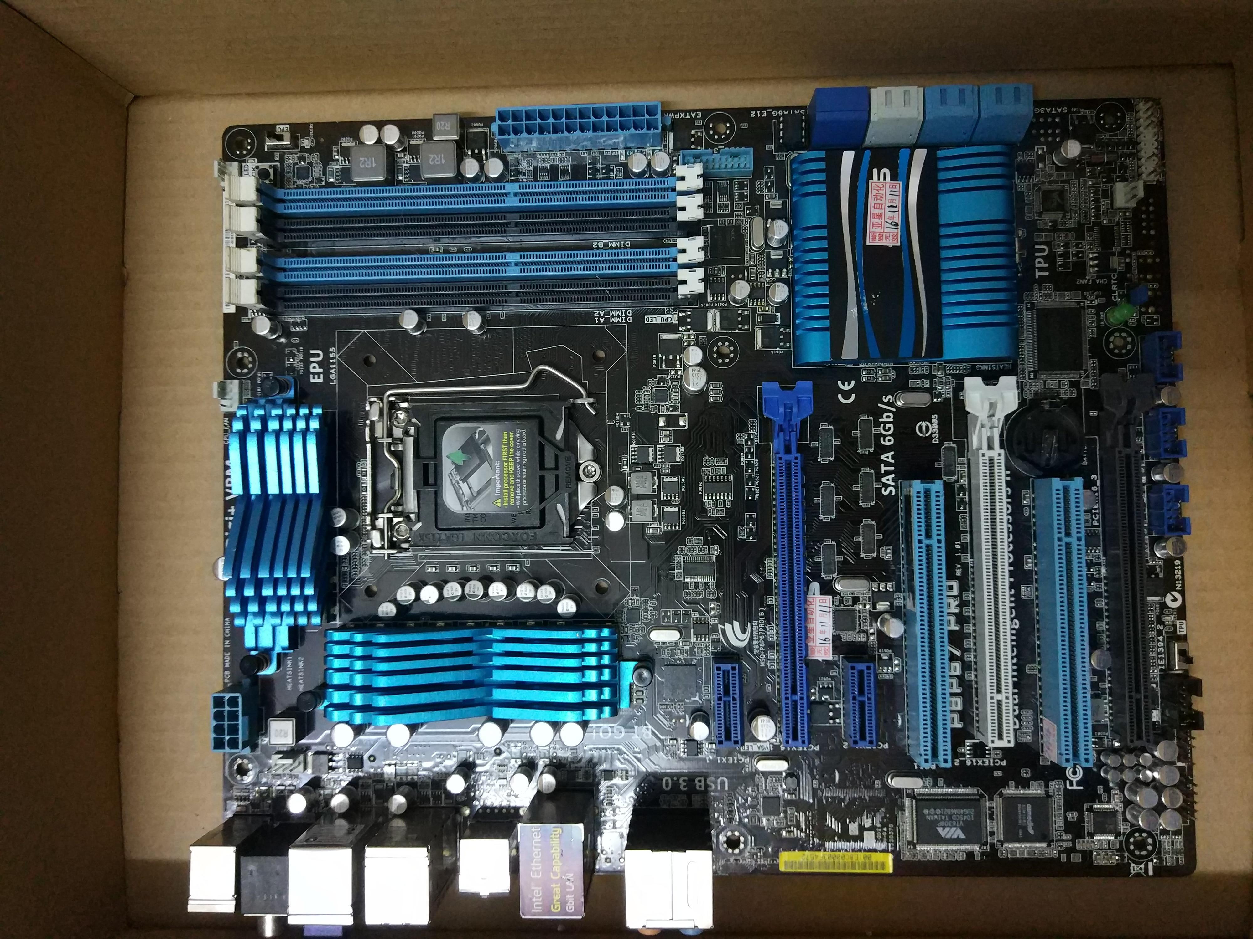 original motherboard for P8P67 PRO 3.1  LGA 1155 DDR3 boards 32GB USB3.0 SATAIII P67 Fineness new msi original zh77a g43 motherboard ddr3 lga 1155 for i3 i5 i7 cpu 32gb usb3 0 sata3 h77 motherboard