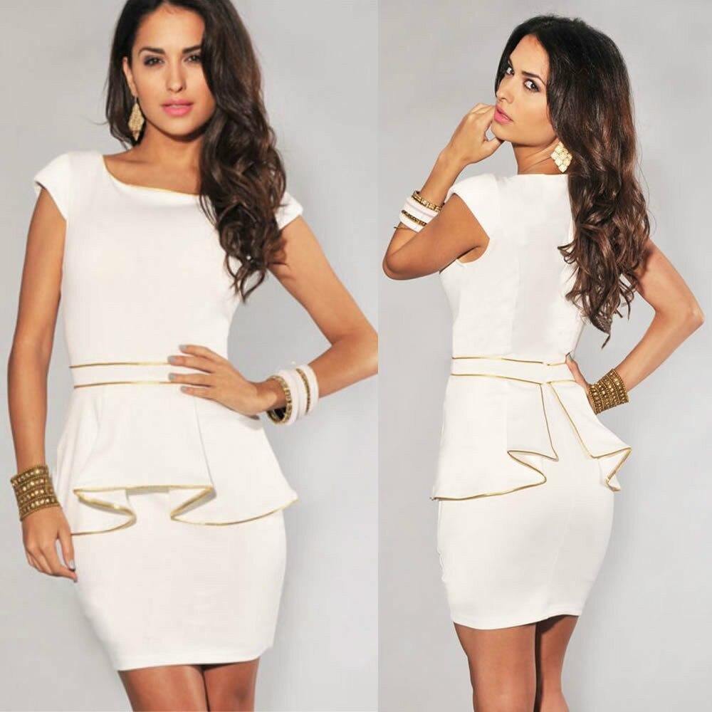 M L Xl Plus Size 2014 New Fashion Women Elegant Black And White