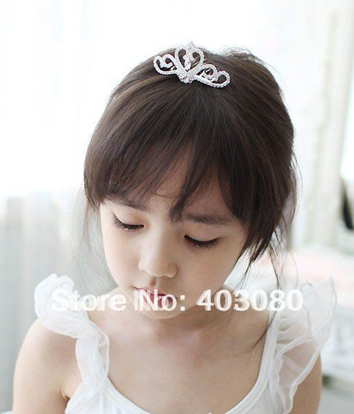 Wholesale & Retail South Korea style girl  Alloy crown design hair combs,kid bobby pin,Alice band