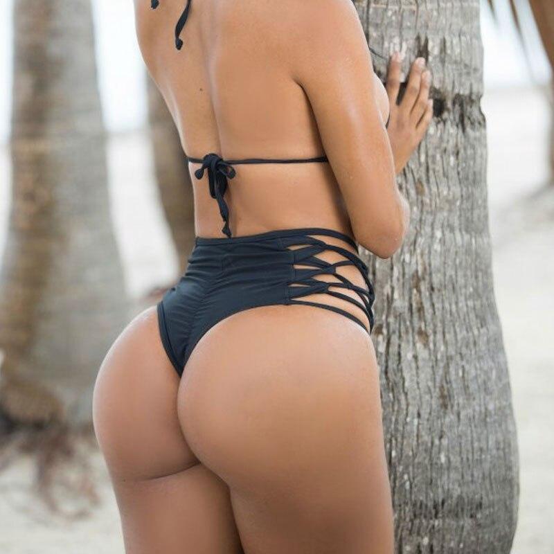 da61e70f8 Hot Sexy Biquíni Brasileiro Maiô Fio Dental Mulher Empurrar Para Cima  Swimwear Feminino Praia Usar biquínis Conjunto Maiô Halter Strap Swimwear  em Conjunto ...