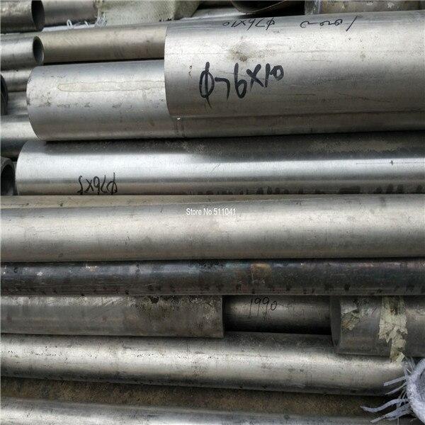 титан бесшовные трубы Г2 grade2 gr2 на TitaniumTube титана трубы 76 мм*10 мм*500 мм,1 ПК ,бесплатная доставка