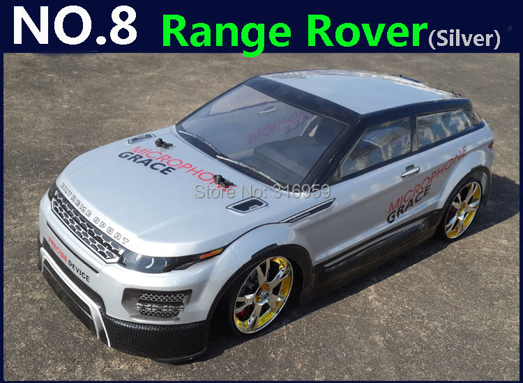 Large 1:10 RC Coche de Carreras de Alta Velocidad Del Coche 2.4G Range Rover 4 W