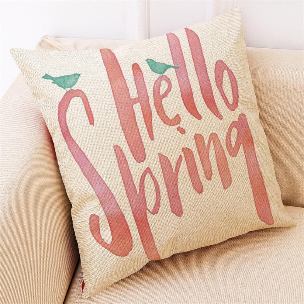 Home Decor Cushion Cover Hello Spring Throw Pillowcase Pillow Covers pregnancy pillow travel pillow neck #25
