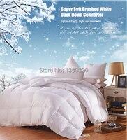 160 210cm Single Duvet White Duck Down Edredon Pink Winter Comforter Sateen Jacquard Feather Quilt Blankets