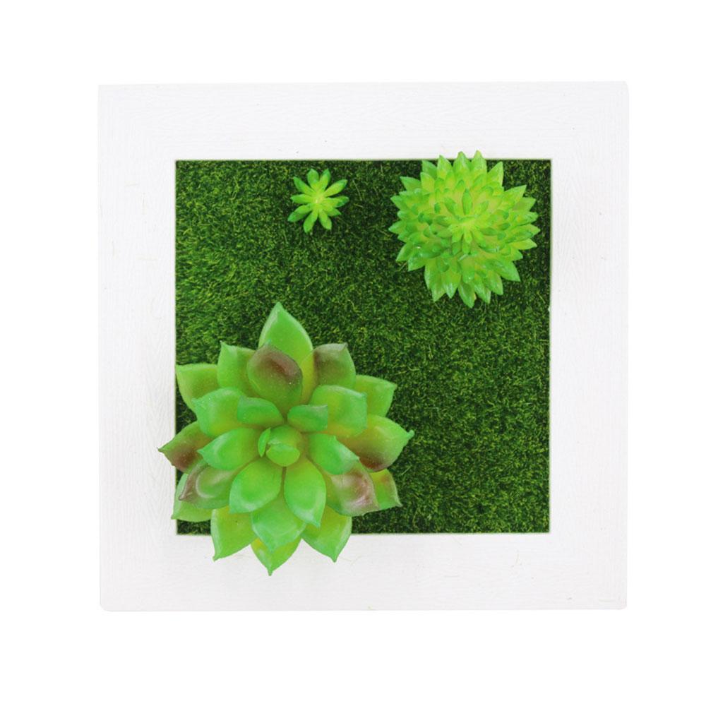 Пластиковая рамка для фотографий растений суккулентные растения орнамент креативная эмуляция настенный искусственный свадебный цветок рамка - Цвет: 21A