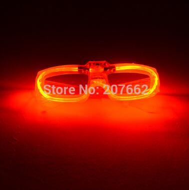 Мигающие очки светодиодный светящиеся вечерние светящиеся принадлежности освещение новинка подарок яркий свет фестиваль вечерние светящиеся очки - Цвет: red