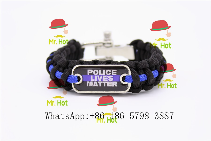 Frank Thin Blue Line Bracelet Police Lives Matter Police Support Wristband Support Lives Matter Waterproof Arts,crafts & Sewing Shock-Resistant And Antimagnetic
