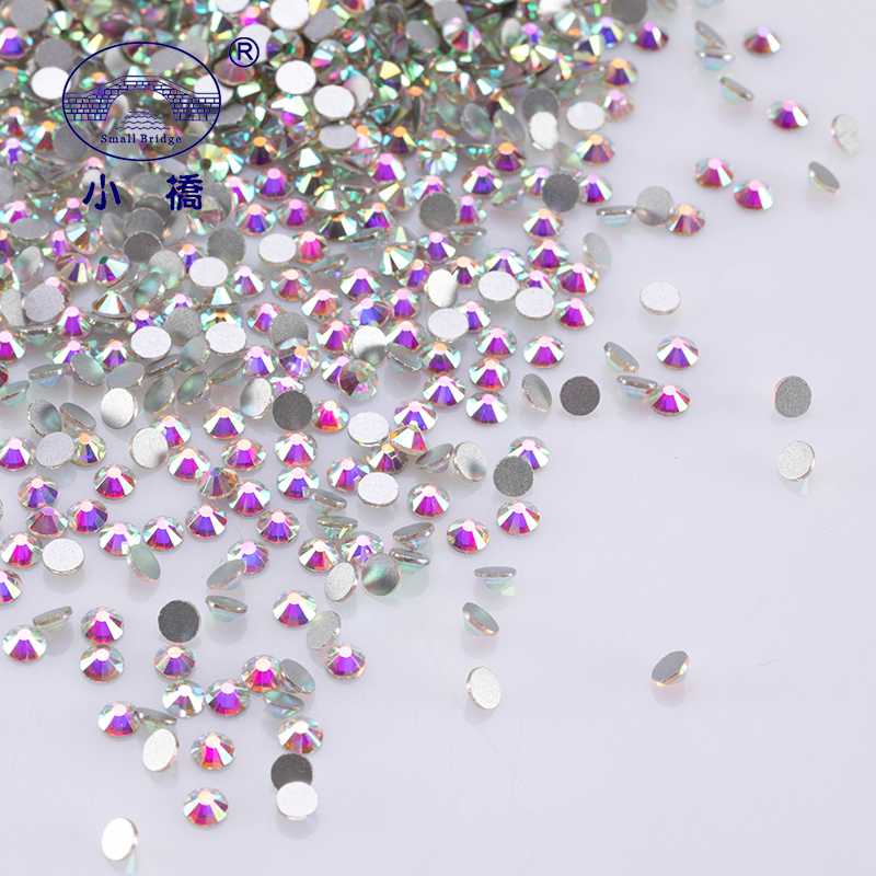 Non Hotfix Flatback Crystal Rhinestones For Klær Glitter Nail Art Decoration Loose Strass 2088 Round Rhinestones AB 1440PCS