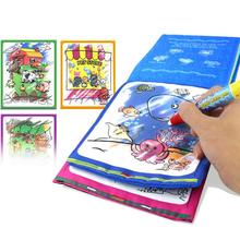 Kids Magic Water Drawing Book Animals Drawing Book with Magic Pen Baby Educational Doodle Painting Board Coloring Drawing Toy