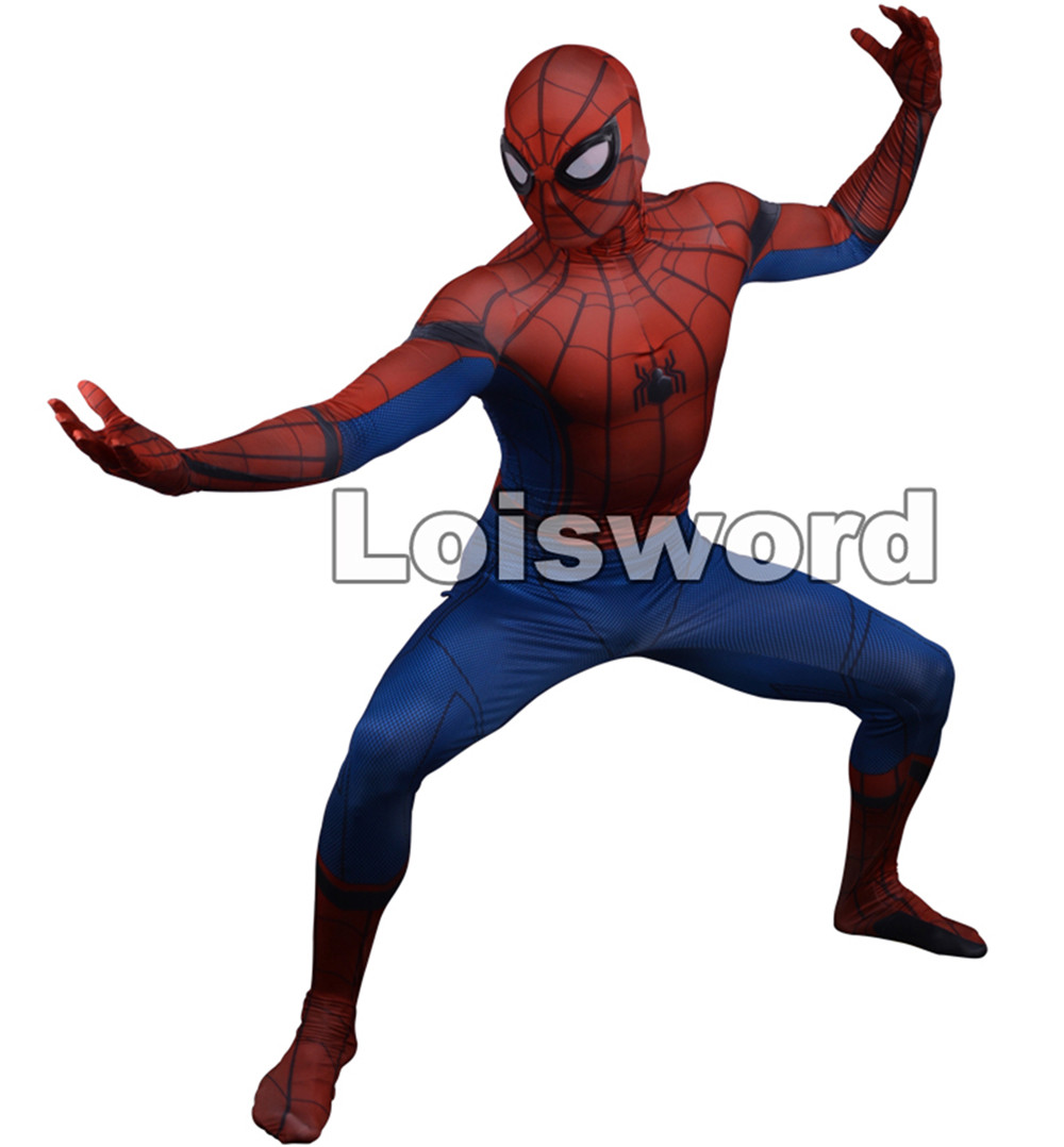 Designer Spider-Man Homecoming cosplay costume 3D Printed Spiderman Homecoming Spandex zentai suit Spidey bodysuit ...