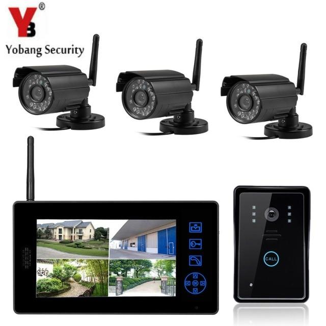 Yobangsecurity 7 Tft Lcd Wireless Video Door Phone Doorbell Video