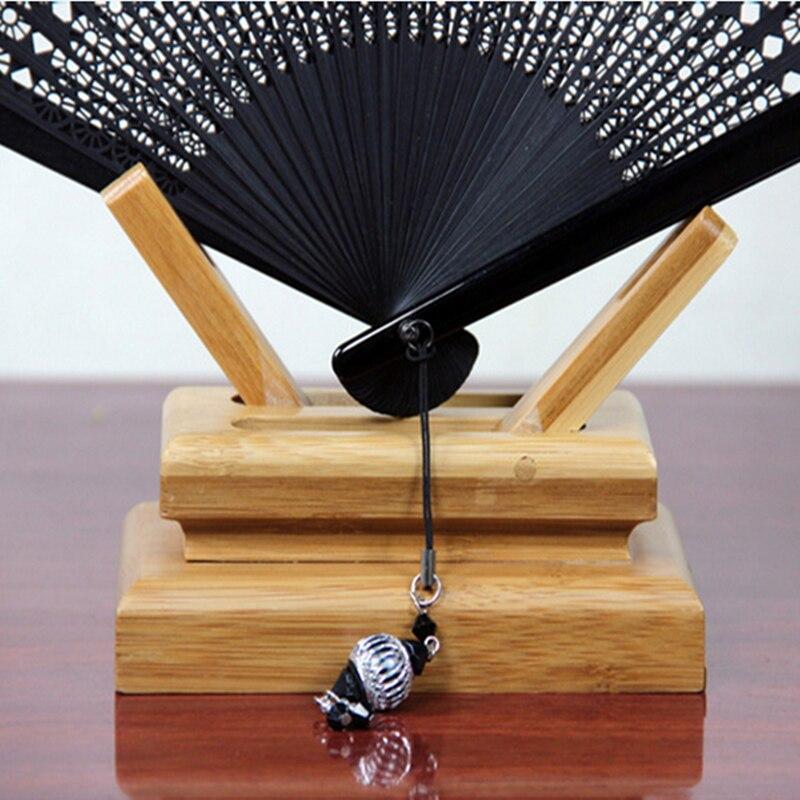Begrenzte schwarze Falthandbambusfächer Leques Japoneses Damen, - Wohnkultur - Foto 5