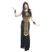 Adult Ancient Egypt Egyptian Empress Queen Cleopatra Cosplay Costume for Women Fancy Halloween Carnival Masquerade Party Dress
