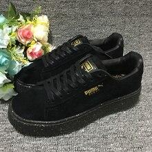 989e2c9bd31 New Arrival 2018 PUMA rihanna Suede Platform creeper Women s shoes  Breathable Sneakers Badminton Shoes(China