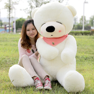 huge plush white teddy bear toy large sleeping bear toy stuffed big teddy bear gift 180cm 0058 huge lovely new plush teddy bear toy stuffed light brown teddy bear with bow birthday gift about 160cm