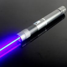 Buy JSHFEI Guaranteed100% 450nm 1W / 1000mW Focus Adjustable Blue Laser Pointer Burning Match  green laser pen