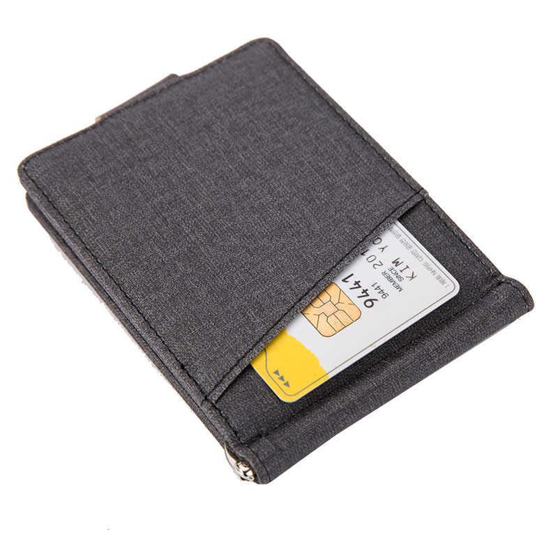 KUDIAN BEAR Мужской зажим для денег металлический твердый держатель для денег Кожаный Зажим кошелек дизайнерский кошелек для денег bidhombre BID143 PM49