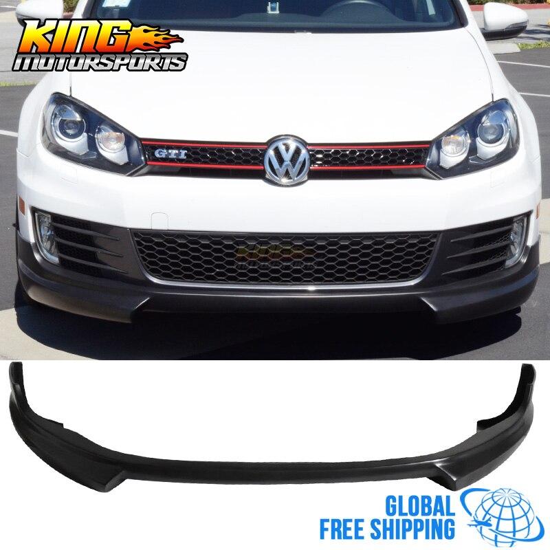 Для 2009 2011 Volkswagen Golf 6 GTi Vi Mk6 переднего бампера спойлер Splitter ПУ глобальной Бесплатная доставка по всему миру