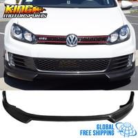 Fits 2010 2014 Volkswagen Golf 6 GTI RG Styel Vi Mk6 Front Bumper Lip Spoiler Splitter PU Global Free Shipping Worldwide