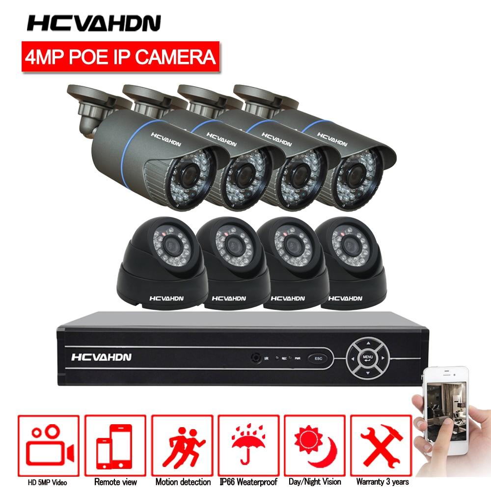 POE Security Camera CCTV System HD H 265 5 0MP 8CH NVR 2592 1520 4MP IP