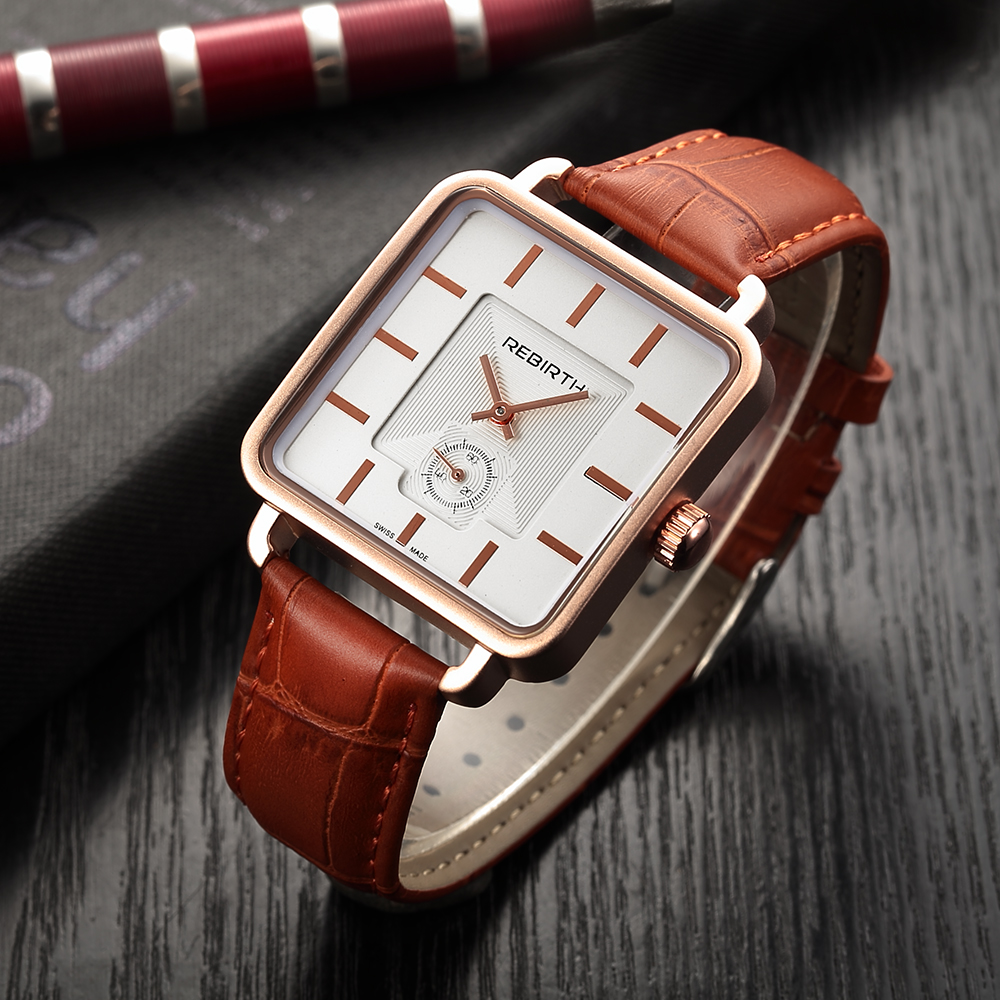 Brand Men Women Watches Leather rectangle Luxury Dress Watch Ladies Quartz Rose Gold Silver Wrist Watch Montre Femme reloj mujer popular women watches brand luxury leather reloj mujer rose gold clock ladies casual quartz watch women dress watch montre femme