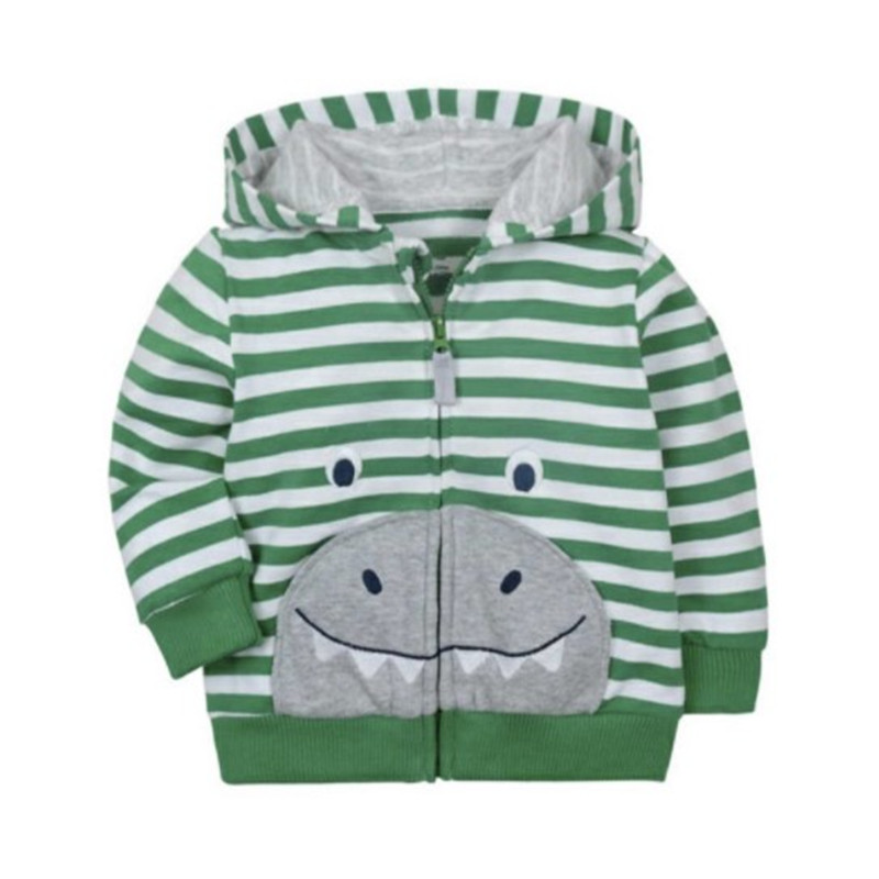 2018 baby boys girls hooded sweatshirts cotton cartoon tops truck flower whale out wear kids clothes for 9m-3years 4