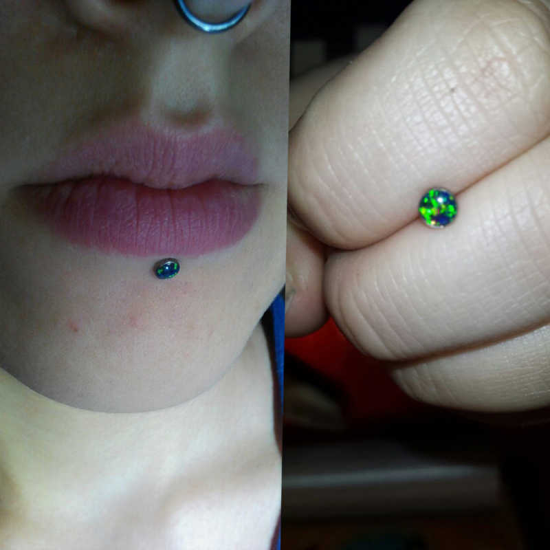 3pcs 3mm 4mm 5mm Lot Opal Lip Stud Labret Monroe Piercing 1 2 6 8mm 16g Blue White Fire Opal Earrings Ear Piercing Cartiliage