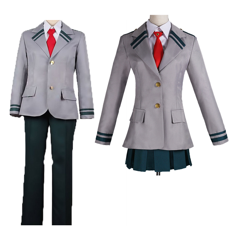 Cosplay Costume Boku no Hero Universitaire Milieu Midoriya Izuku Bakugou Katsuki Grey My Hero Academic Middle School Uniform