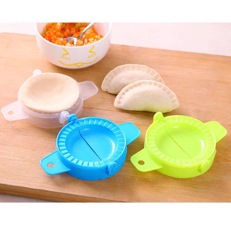 1 PC cocina mágica creativa de grado alimenticio de plástico Pinch Home Pack Dumpling máquina DIY Dumpling clip molde herramientas de cocina nuevo A3078