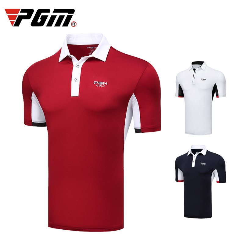 CRESTGOLF Golf vêtements hommes à manches courtes T-Shirt printemps été vêtements de balle, transpiration séchage rapide pour vêtements pour hommes T-shirt