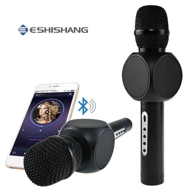 E103 Беспроводной микрофон конденсаторный караоке Microfono Inalámbrico KTV музыкальный динамик bluetooth микрофон для смартфон Android ios