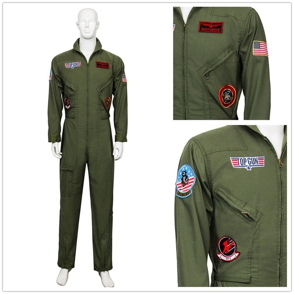 DRESS ME UP Kostüm Herren Herrenkostüm Pilot Kampfpilot Overall Airforce M-052