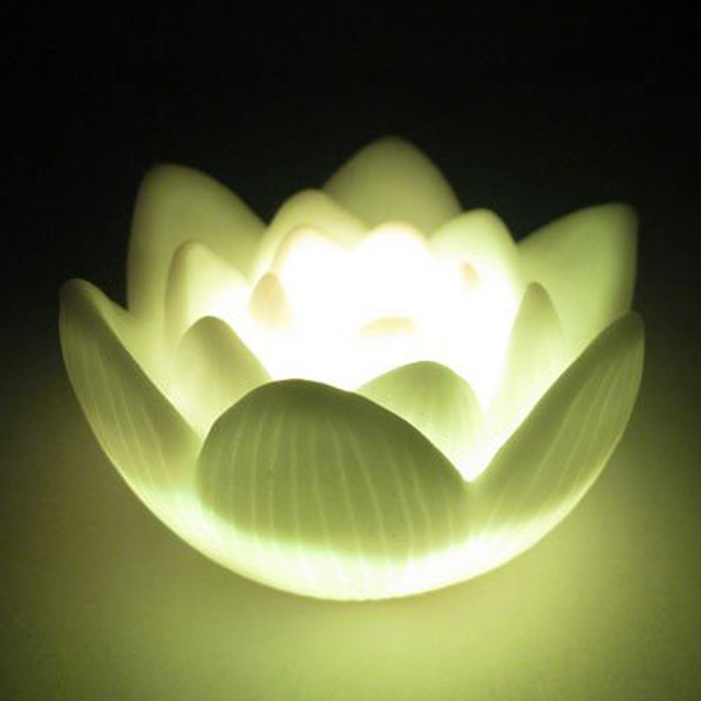 CSS 2pcs Color Changing LED Lotus Flower Romantic Love Mood Lamp Night Light,Seven Color Changing