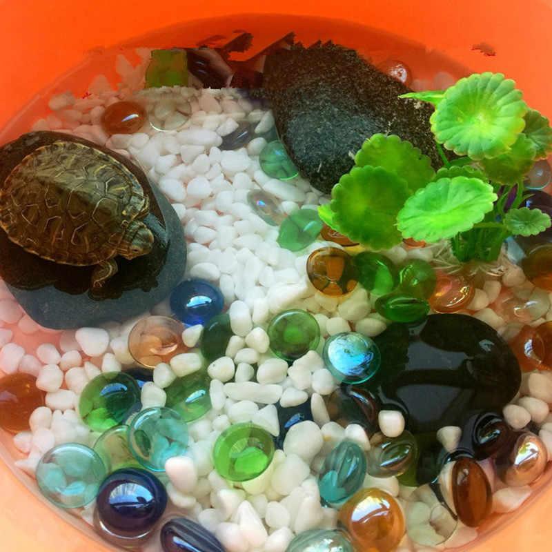 12 ピース/ロット 1.8 センチメートル水槽の装飾石ガラス石偽クリスタル宝石花瓶ガーデン小石石